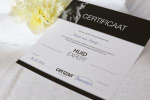 certificaat - Huid expert Nicole van Nierop